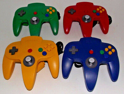 4 x Genuine Nintendo 64 N64 Mixed Controller Refurbed Toggle (A Grade) Original