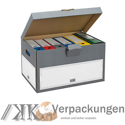 30 Archiv Transportcontainer SELECT 530 x 380 x 285 mm Archivschachteln Kartons