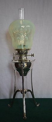 WAS Benson oil lamp with Vaseline shade
