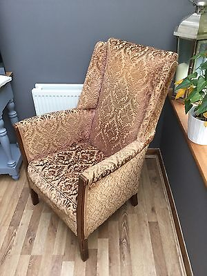 Antique Edwardian  Armchair Sprung Very Solid & Sound