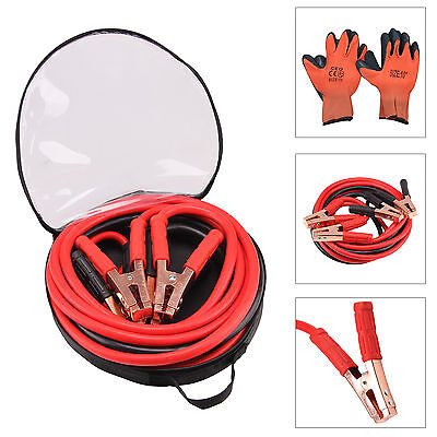 Heavy Duty Battery Jump Start Leads Cable 800amp 6m Long Jump leads With gloves