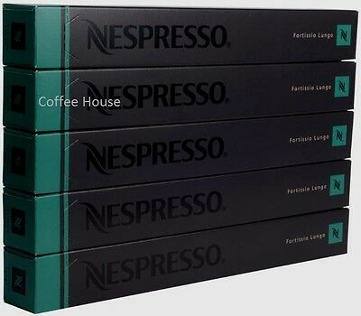 50 New original Nespresso Fortissio Lungo flavour coffee Capsules Pods UK