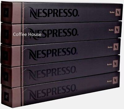 50 New original Nespresso Roma flavour coffee Capsules Pods UK