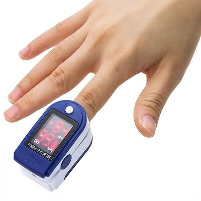 Fingertip Blood Oxygen Meter SPO2 LED Pulse Heart Rate Health Monitor Oximeter