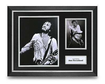 Pete Townshend Signed 16x12 Photo Framed Display The Who Memorabilia Autograph