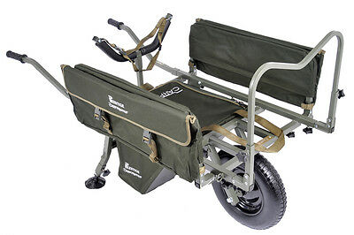 Prestige Carp Porter MK2 Fishing Barrow FREE Barrow Cover, Middle Bag, Side Bags