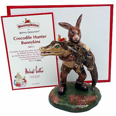 RARE Steve Irwin Royal Doulton Bunnykins Crocodile Limited Edition Mother's Day