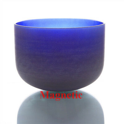 """Magnetic Perfect Pitch A Third Eye Chakra 10"""" Color Crystal Singing Bowl"""