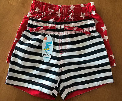 Mini Rebel Baby Boys Cute Swim Shorts 12-18 Months BNWT