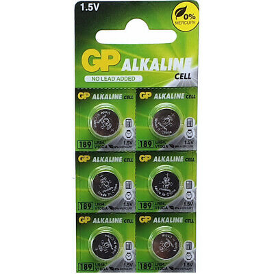 6 x GP LR54 1.5v Batteries 189 LR1130 AG10 389