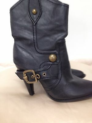 black high heel ankle boot size 5 by new look 163 4 99