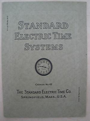 Standard Electric Time Co. Catalog #42 - Original, Complete, Very Good Condition