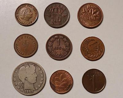 World Coins With Silver Lot Of 19 *dates:1891 To Present*