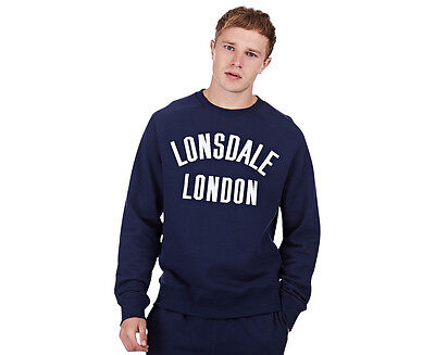 Lonsdale Men's Caden Sweater - Navy/White