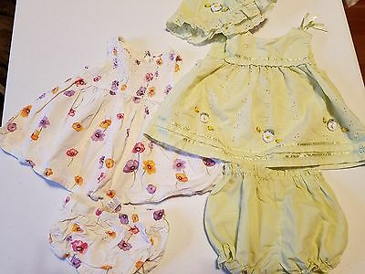 Baby Girl Clothes~ Lot of 2 Spring/Summer Dresses Size 3-6 Months