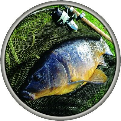 4x4 Spare Wheel Sticker CARP Fishing Design Fits All Vehicles