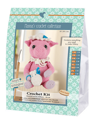 NEW | Go Handmade Crochet Kit | Helmut & Friends Pig Hillary | FREE SHIPPING