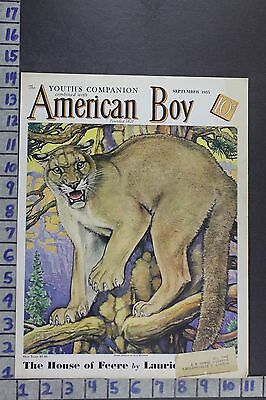 1935 Animal Cougar Bransom Mountain Lion Big Game Hunting Vintage Cover Cov350