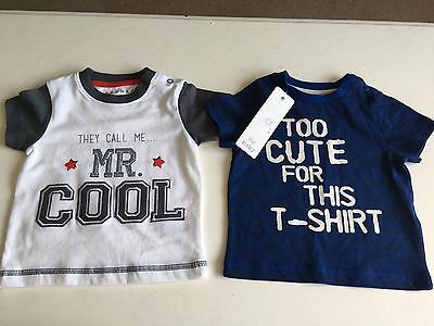 Baby Boys Tops 6-9 Months Brand New