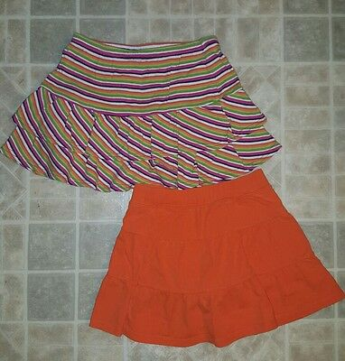 The Childrens Place Gymboree Girls Skorts Orange Striped Size 6