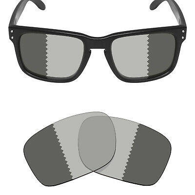 1b2b5053767 Mryok Replacement Lenses for-Oakley Holbrook Sunglass Transition Gray  Polarized