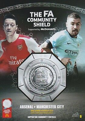 ARSENAL v MAN CITY 2014 COMMUNITY SHIELD MINT PROGRAMME MANCHESTER