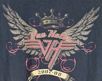 Van Halen 2007-08 Tour Size XL Concert Rock Band Black Pre Shrunk T Shirt VGC!