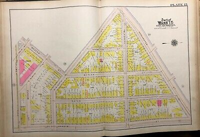 1910 South Boston, Ma  Columbia Rd-Dorchester St & Knowlton-Old Harbor Atlas Map
