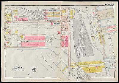 1910 G.w. Bromley, South Boston, Ma, Commonwealth Fish Pier, Copy Plat Atlas Map