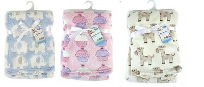 """First Steps"" Luxury Soft Fleece Baby Blanket for Babies from Newborn"