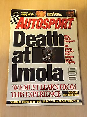 Autosport 5 May 1994 Senna Death At Imola, Michael Scumacher