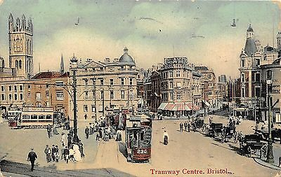 POSTCARD   BRISTOL  Tramway  Centre      RP