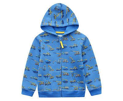 BQT Baby/Toddler Boys' Truck Hoodie - Royal Blue