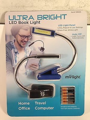 Mylight Ultra Bright LED Book Lights Dual Pack with Batteries