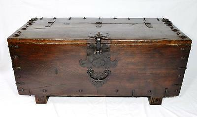 Antique Korean Money Chest Exquisite Rare Piece Early 19th Century