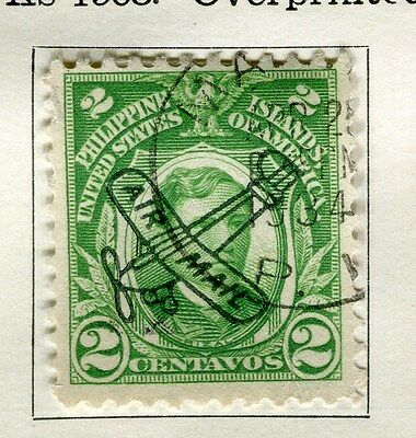 PHILIPPINES:  1933 early AIR issue fine used 2c. value
