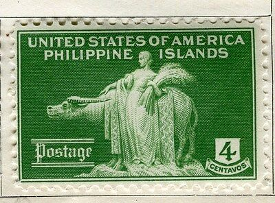PHILIPPINES:   1935 early pictorial issue Mint hinged 4c. value