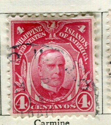 PHILIPPINES:   1908 early portrait issue used 4c. value