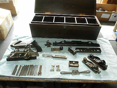 Antique Stanley Tools and Wooden Tool Box plus others