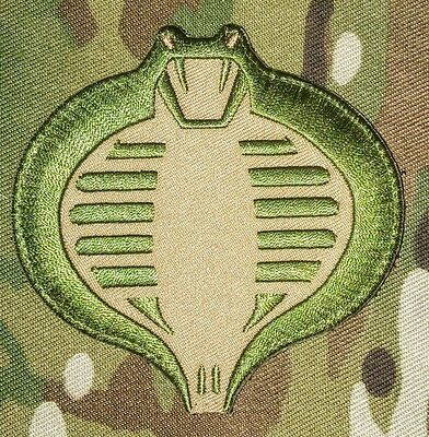 Cobra Gi Joe Usa Army Tactical Military Combat Morale Badge Green Hook Patch