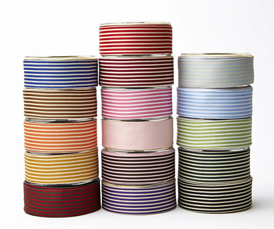 May Arts 38mm Striped Grosgrain - price per metre or on a 27.4m roll