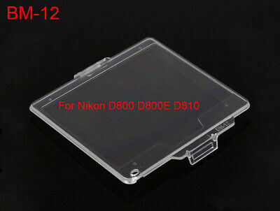 BM-12 Hard Clear Plastic Rear LCD Monitor Screen Cover For Nikon D800 - UK STOCK