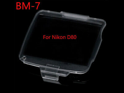 BM-7 Hard Clear Plastic Rear LCD Monitor Screen Cover For Nikon D80 - UK STOCK