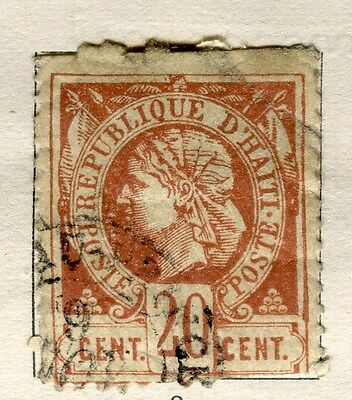 HAITI;  1882 early classic Liberty issue perf  used 20c. value