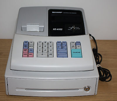 Sharp XE-A102 Electronic Cash Register, One Key