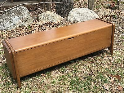 Mid Century Modern Walnut Blanket Hope Chest Trunk  NOT MADE WITH A LOCK