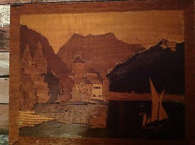 Antique Marquetry Picture