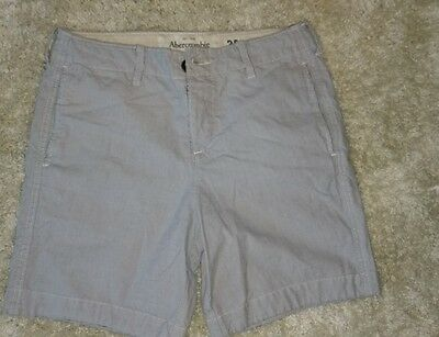 Abercrombie & Fitch NWT Mens Flat Front Casual Button-Fly Stone Shorts Size 30