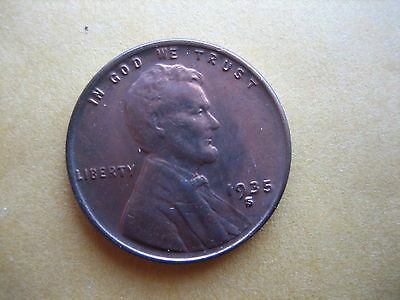 1935-S Lincoln Cent Ch Bu Rb