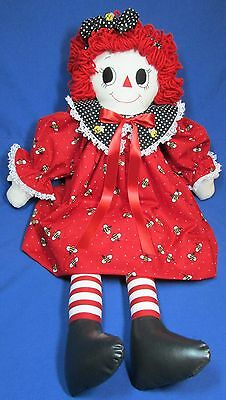 Handmade 32 Inch Red with Bees - Raggedy Ann Doll - New